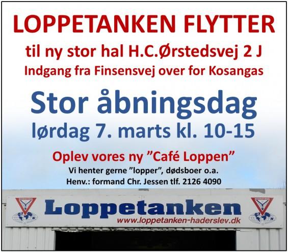 Annonce Loppetankens åbning